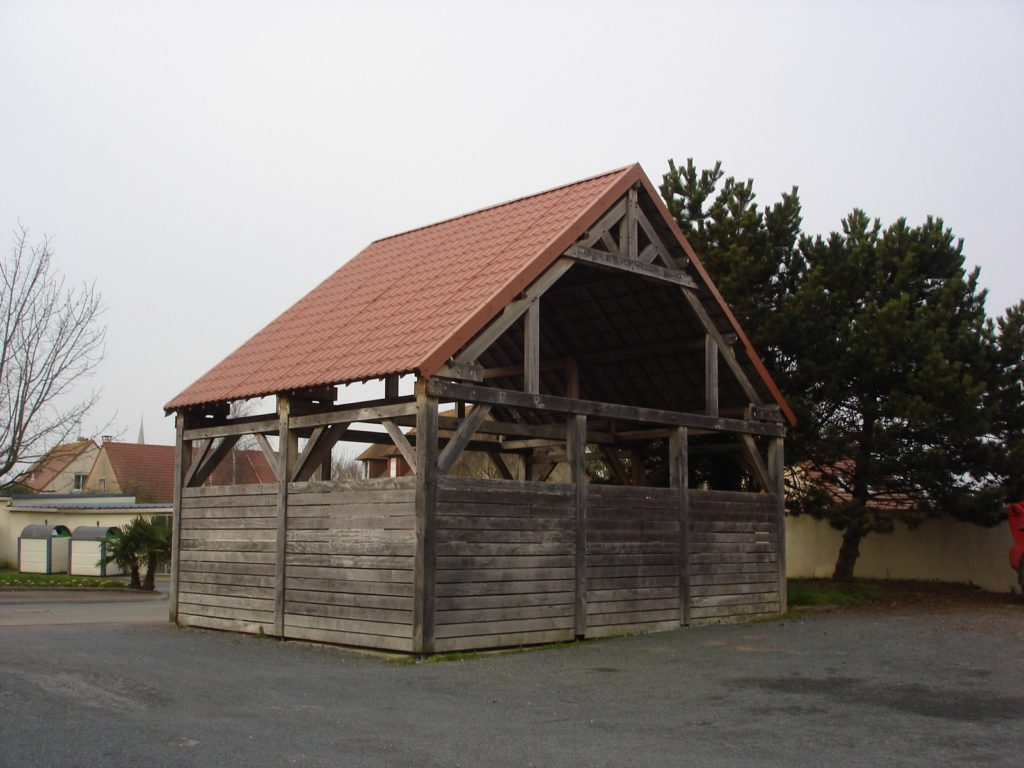Charpente traditionnelle - Camping de luc sur mer - Lefebvre Sylvain Bureau d'études structure bois