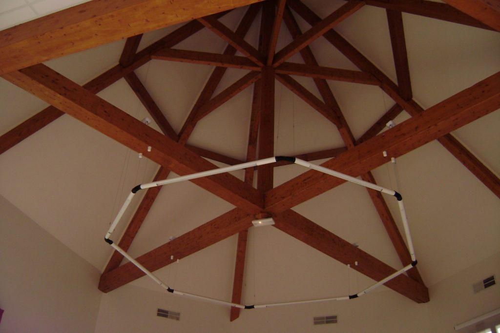 Maison Des Chasseurs Charpentes Traditionnelle - Bureau d'etudes structure bois : Lefebvre Sylvain - Vue Interieur Dessous globale
