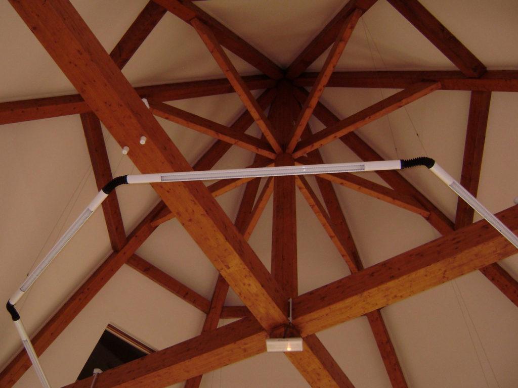 Maison Des Chasseurs Charpentes Traditionnelle - Bureau d'etudes structure bois : Lefebvre Sylvain - Vue Interieur dessous