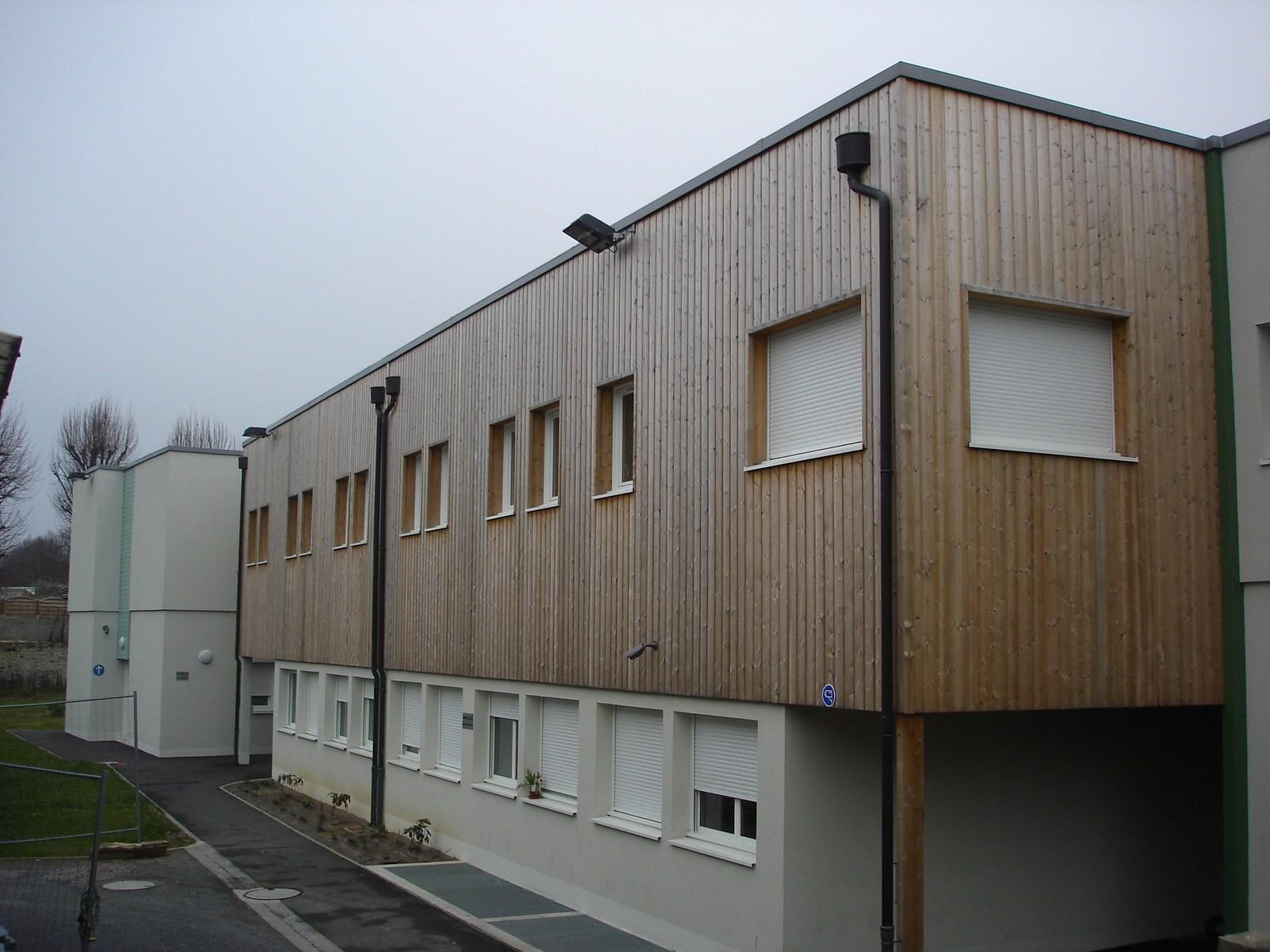 Foyer du tremplin - ossature bois - Bureau d'etudes structure bois : Lefebvre Sylvain - Vue exterieur face B