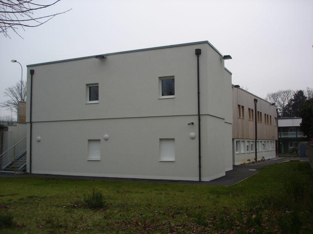 Foyer du tremplin - ossature bois - Bureau d'etudes structure bois : Lefebvre Sylvain - Vue exterieur arriere