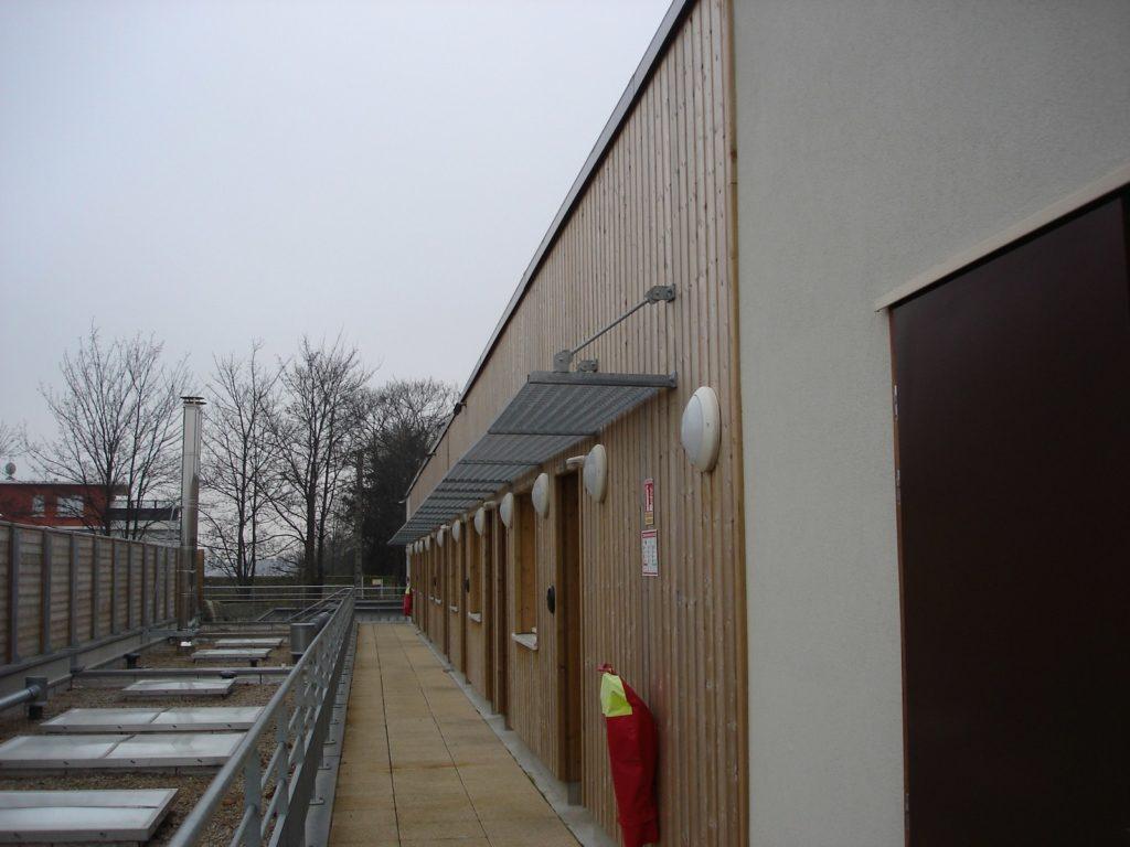 Foyer du tremplin - ossature bois - Bureau d'etudes structure bois : Lefebvre Sylvain - Vue exterieur face A