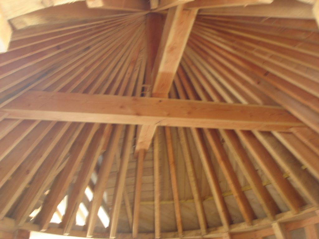 Manoir 7eme art Charpentes Traditionnelles - Bureau d'Etudes Structures Bois : Mr Lefebvre Sylvain - Vue de dessous